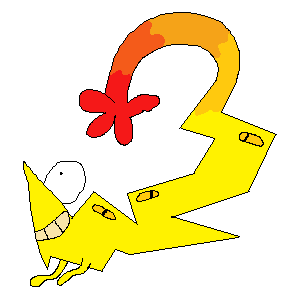 zilbert: a small, sparky fellow with a big smile and a grabby tail.